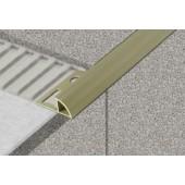 PROFIL-EU profil 12mm, 2,5m ukončovací, s přepážkou, oblý, PVC, bílá