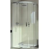 HÜPPE AURA ELEGANCE posuvné dveře 900x1900mm čtvrtkruh, stříbrná matná/sklo čiré Anti-Plague