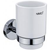 NIMCO UNIX držák se skleničkou 110x115mm, chrom/bílá