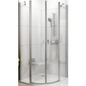RAVAK CHROME CSKK4 80 sprchový kout 800x800x1950mm, čtvrtkruhový, čtyřdílný, bílá/transparent