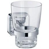 KEUCO SMART držák skleničky na zubní kartáčky 72x113x100mm, křišťálové sklo, pochromováno