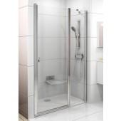 RAVAK CHROME CSD2 100 sprchové dveře 975-1005x1950mm dvoudílné satin/transparent 0QVACU00Z1