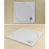 SANSWISS MARBLEMATE WMQ vanička 900x900x30mm, čtverec, bílá