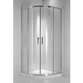 JIKA CUBITO PURE sprchový kout 1000x1000mm čtyřdílný, čtvrtkruhový, transparentní