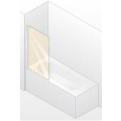 HÜPPE DESIGN 501 ELEGANCE vanová zástěna 750x1500mm jednodílná, stříbrná matná/čirá anti-plaque 8E1901.087.322