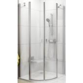 RAVAK CHROME CSKK4 90 sprchový kout 900x900x1950mm čtvrtkruhový, čtyřdílný bright alu/transparent  3Q170C00Z1