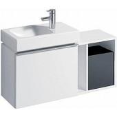 GEBERIT ICON XS postranní prvek 37x40x27,3cm, závěsný, bílá lesklá 840237000