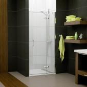 SANSWISS PUR LIGHT PL sprchové dveře 900x2000mm jednokřídlé, s pevnou stěnou v rovině, panty vlevo, aluchrom/čiré sklo Aquaperle