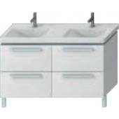 JIKA CUBITO umyvadlová skříňka pro dvojumyvadlo 1290x460x670mm 4 zásuvky, bílá/bílý lesklý lak