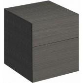 KERAMAG XENO 2 boční skříňka 450x462x510mm sculture šedá