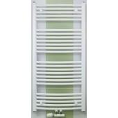 CONCEPT 100 KTOM radiátor koupelnový 600x1860mm, prohnutý se středovým připojením, bílá