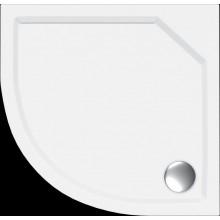 Vanička litý mramor - čtvrtkruh Concept 100 včetně nožiček 90x90 cm, R500 bílá