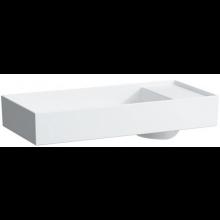 LAUFEN KARTELL BY LAUFEN umyvadlová mísa  750x350mm s tvarováním pro armaturu, s 1 otvorem, bez přepadu, bílá 8.1233.2.000.111.1