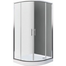 EASY ELR2 900 B sprchová zástěna 900x1900mm R550 čtvrtkruh, bílá/transparent