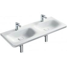 IDEAL STANDARD TONIC II dvojumyvadlo 1215x490x170mm, nábytkové, 2 otvory, skrytý přepad, bílá