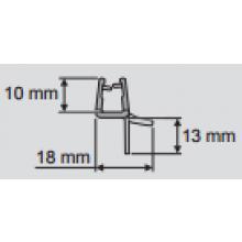 HÜPPE odtoková lišta II 2100mm 070004
