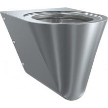 WC závěsné Franke nerezový Campus CMPX592B s černým prkénkem 360x550x350mm CrNi 18/10