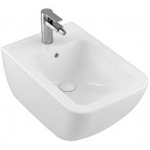 VILLEROY & BOCH VERITY LINE závěsný bidet 375x560mm, s otvorem a přepadem, bílá Alpin Ceramicplus