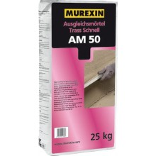 MUREXIN AM 50 vyrovnávací malta 25kg, voděodolná, s rychlým vytvrzením, s trassovou přísadou
