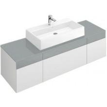 VILLEROY & BOCH MEMENTO spodní skříňka 1706x425x535mm, umyvadlo uprostřed, White Matt Lacquer/Glass Soft Grey