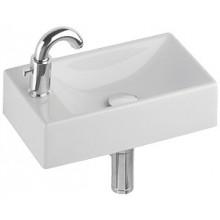 Umývátko klasické Kolo s otvorem Quattro s otvorem vlevo 40x23x11,5 cm bílá+Reflex