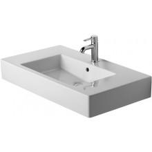 Umyvadlo nábytkové Duravit bez otvoru Vero 0329850060 s přetokem 85x49 cm bílá