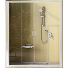 Zástěna sprchová dveře Ravak plast NRDP4 140 cm satin/transparent