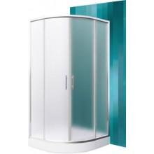 ROLTECHNIK SANIPRO HOUSTON NEO/900 sprchový kout 900x1900mm R550 čtvrtkruh, s dvoudílnými posuvnými dveřmi, brillant/matt glass