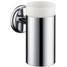 HANSGROHE LOGIS CLASSIC sklenička na ústní hygienu 130mm, chrom/keramika 41618000