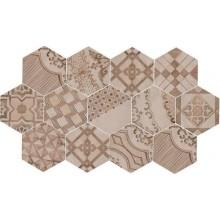 MARAZZI CLAYS dekor, 21x18cm šestiúhelník, beige