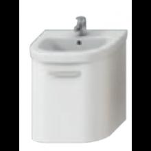 DEEP BY JIKA skříňka pod umyvadlo 530x410x498mm, bílá/bílá