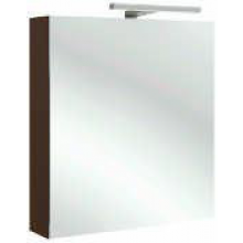 KOHLER REACH skříňka 600x140x650mm se zrcadlem, s LED osvětlením, panty vlevo, gloss white 98436LD-N18