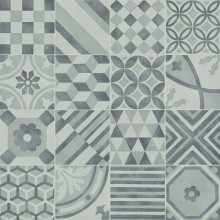 MARAZZI BLOCK dekor, 15x15cm, white/silver/black/grey, MH2K