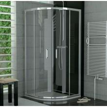 SANSWISS TOP LINE TOPR sprchový kout 900x900x1900mm s dvoudílnými posuvnými dveřmi, čtvrtkruh, aluchrom/Cristal perly Aquaperle