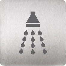 SANELA SLZN44R piktogram sprcha 120x120mm, nerez mat
