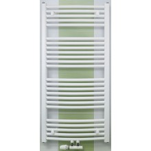 CONCEPT 100 KTOM radiátor koupelnový 776W prohnutý se středovým připojením, bílá