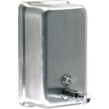 Dávkovač tekutého mýdla z matného nerezu, o objemu 1200 ml. Výhodami jsou zámek, přímé plnění mýdla, odolné