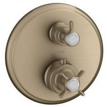 HANSGROHE AXOR MONTREUX termostat s podomítkovou instalací a s uzavíracím ventilem, nikl