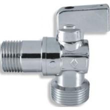 """EASY rohový ventil 1/2""""x3/4"""", pračkový, se zpětnou klapkou, chrom"""