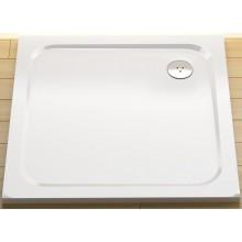 RAVAK PERSEUS PRO CHROME 100 sprchová vanička 1000x1000mm z litého mramoru, plochá, čtvercová, bílá XA04AA01010