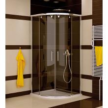 SANSWISS PUR LIGHT S PLSR sprchový kout 1000x2000mm, R550mm, čtvrtkruh, dvoudílné posuvné dveře, aluchrom/čirá