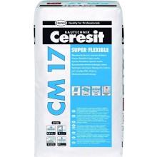 CERESIT CM 17 SUPER FLEXIBLE lepící malta 25kg, flexibilní