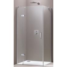 Zástěna sprchová boční Huppe sklo Aura elegance Akce 900x1900mm stříbrná lesklá/Sand Plus AP