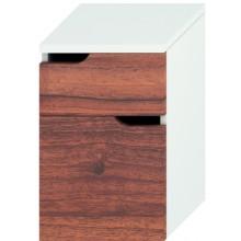 JIKA MIO střední skříňka 363x340x571mm se 2 zásuvkami, bílá/ořech