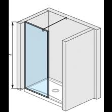 JIKA PURE boční stěna 68cm, transparentní 2.6742.9.002.668.1