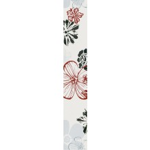 VILLEROY & BOCH MELROSE FLOWER listela 10x60cm, red-grey