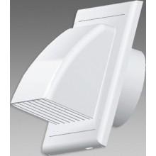 DEN BRAVEN ukončovací článek Ø100mm, pro kanál, horizontální, s mřížkou a klapkou, bílá