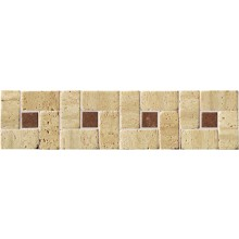 RAKO TRAVERTIN kamenná mozaika 30x7,5cm, bordura, slonová kost