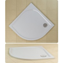 SANSWISS MARBLEMATE WMR vanička 900x900x30mm čtvrtkruh, bílá