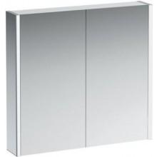 LAUFEN FRAME 25 zrcadlová skříňka 800x150x750mm, bez el. zásuvky, s LED osvětlením, hliník